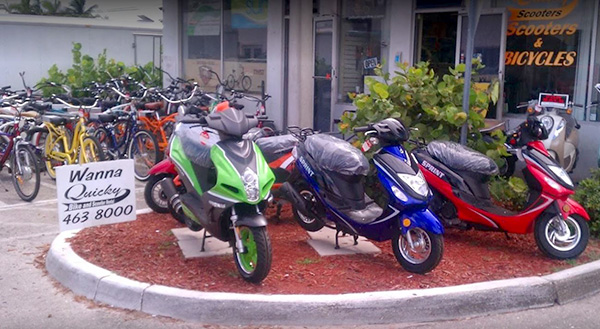 Scooter-Rentals-quicky bikes-fort myers beach storefront