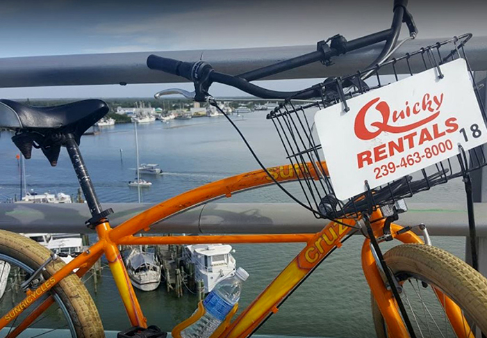 quiky rental bikes on fort myers beach